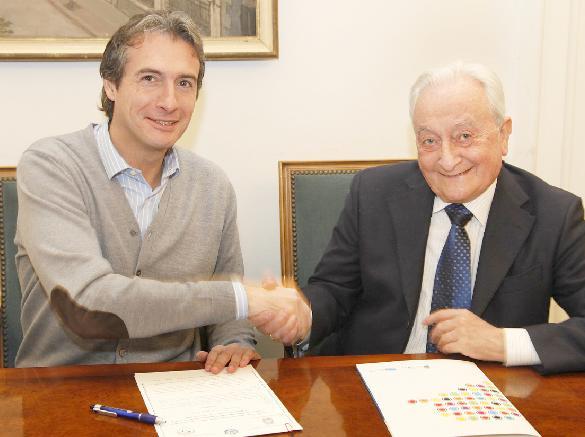 El alcalde y el presidente del Ateneo firmaron un convenio de colaboración para la celebración de ocho conciertos