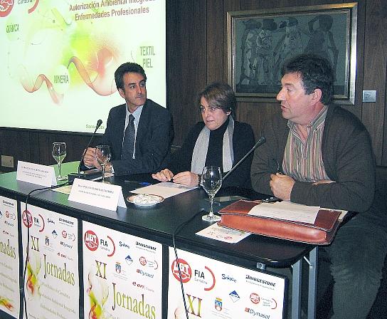 Martín y Cedrún, durante la clausura de las jornadas de UGT