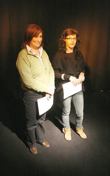 Carmen Hernández y Esther Aja