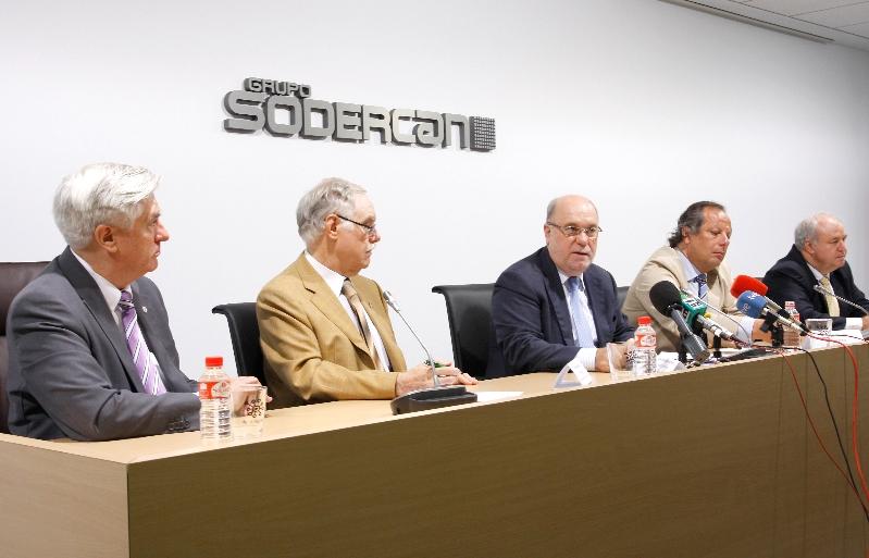 Imágenes del encuentro celebrado hoy en la sede de Grupo Sodercan (Foto: Leticia Navarro)