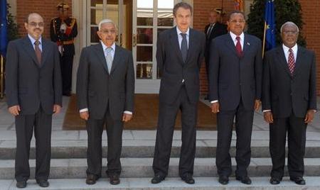 Zapatero recibió a presidentes africanos