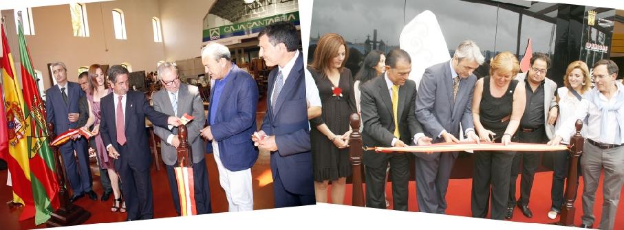A la izquierda, la inauguración de la XI Feria de Antigüedades de Cantabria, en 2010. A la derecha, la inauguración de la X Feria de Antigüedades de Cantabria, con la presencia de la alcaldesa de Torrelavega, Blanca Rosa Gómez Morante, en 2009