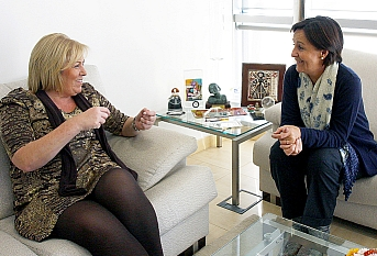 Blanca Rosa Gómez Morante y Dolores Gorostiaga