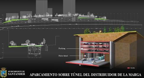 Dos empresas se ofertan para construir y explotar el aparcamiento del distribuidor de La Marga