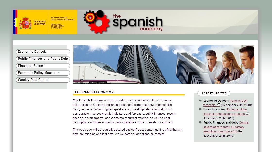 El gobierno lanza una web con información económica en inglés