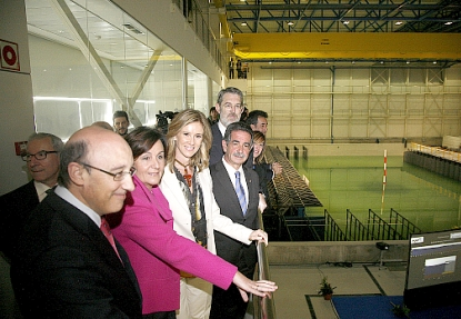 Inaugurado el Gran Tanque de Ingeniería Marítima