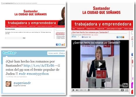 El PSOE de Santander elimina el vídeo que contenía imágenes protegidas por derechos de autor