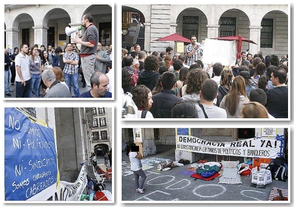 Dos centenares de personas se concentran en la Plaza Porticada de Santander