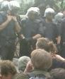 Las cargas policiales fueron muy duras