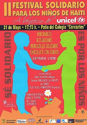 Festival Solidario con Haití del colegio Cervantes