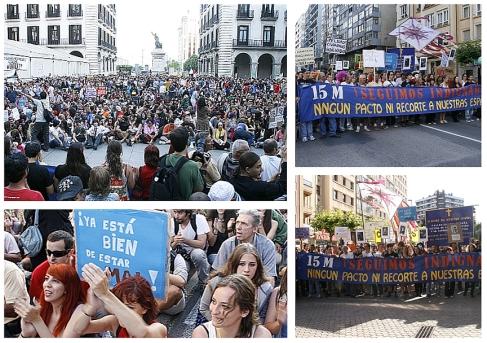 Más de siete mil personas secundan en Santander la convocatoria 19J
