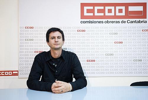En la fotografía, Javier Diego (CC OO)