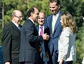 Diego saluda a los Príncipes de Asturias / Foto: Lara Revilla (Gob. Cantabria)