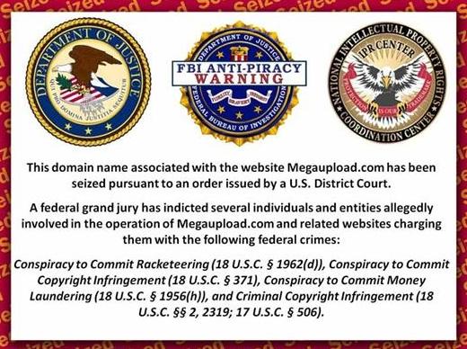 España, entre los países con más usuarios del portal Megaupload, cerrado por el FBI