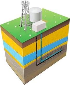 """Extracción de gas mediante """"fracking"""" / Foto: Fotolia"""