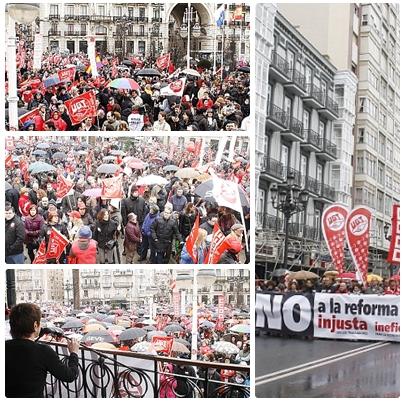 Miles de personas rechazan la reforma laboral y los recortes del PP