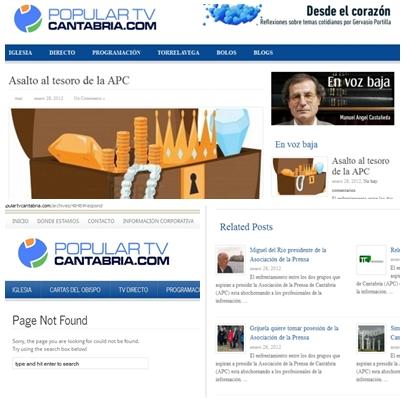 Varios artículos vertidos en PopularTVCantabria.com han indignado a los asociados de la APC