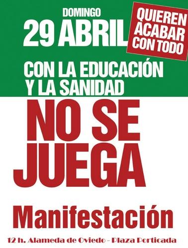 Los sindicatos llaman a la movilización ciudadana para el 29 de abril