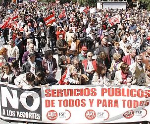 La Plataforma por lo Público llama a participar en la manifestación del aniversario del 15M