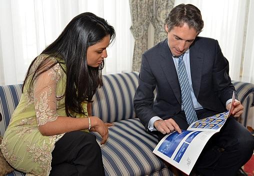 Cantabria recibe la visita de una auténtica princesa de la India