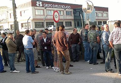 Trabajadores de Emilio Bolado exigen el pago de las indemnizaciones pactadas en el ERE y de las nóminas pendientes