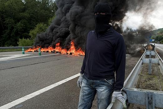 Los mineros llevan ya 18 días de protestas y movilizaciones / Foto: Joaquín Gómez Sastre
