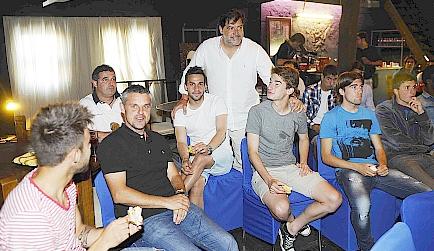 José Campos junto al Racing B