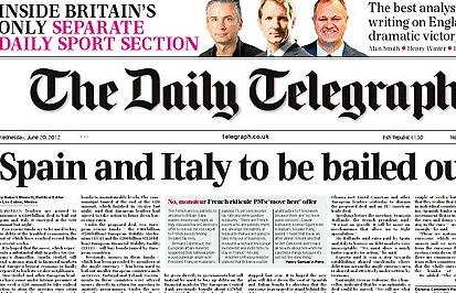 El Telegraph anuncia el rescate de España e Italia