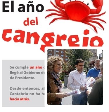 El PSOE denuncia que Cantabria ha vivido 'El año del cangrejo'
