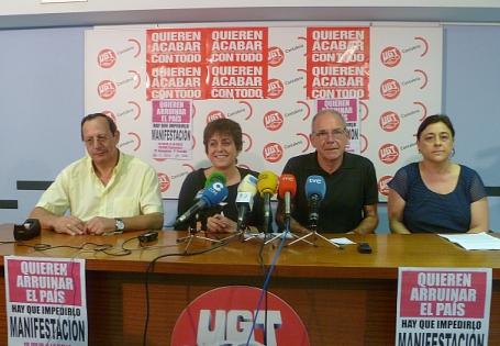 De izquierda a derecha, José Miguel Zorrilla, María Jesús Cedrún, Vicente Arce y Mercedes Martínez