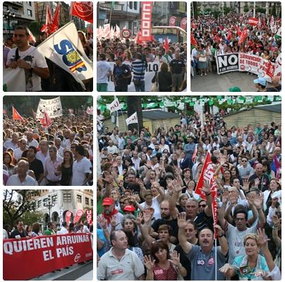 Más de 40.000 personas rechazan en Santander la política de Mariano Rajoy