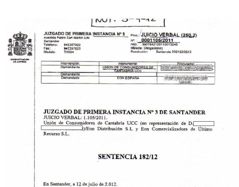 Una sentencia contra EON dictamina que los usuarios no tienen que pagar facturas no emitidas en tiempo y forma