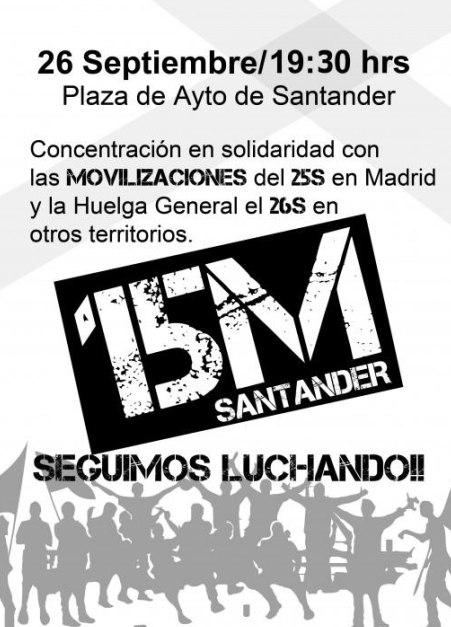Organizan una concentración en solidaridad con el 25-S