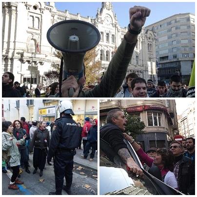 Cantabria registra una alta participación y escasos incidentes en la jornada de huelga /Fotos: JOAQUÍN GÓMEZ SASTRE
