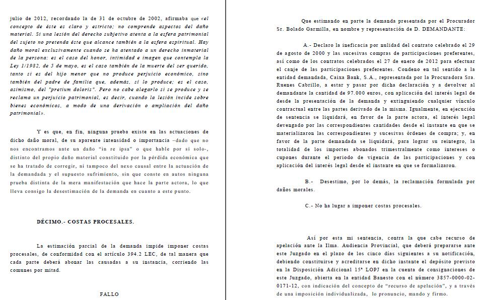 Un juez dictamina en Cantabria la ilegalidad de las participaciones preferentes