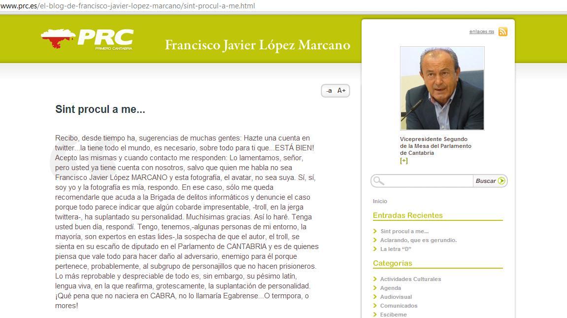 López Marcano denuncia que han suplantado su identidad en Twitter