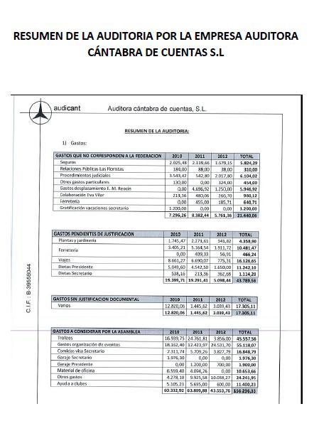 Las cuentas de la Federación Cántabra de Fútbol, a la Fiscalía