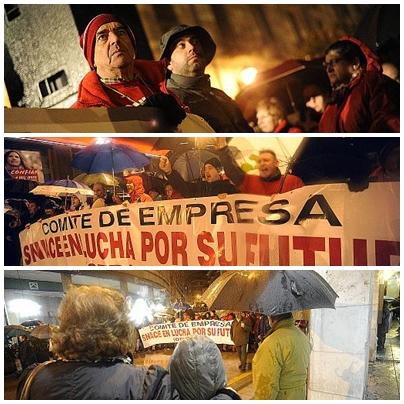 La comarca del Besaya, en pie de guerra en defensa de los trabajadores de Sniace / FOTOS: Pedro Puente Hoyos