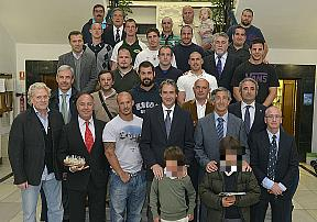 El alcalde felicita al Bathco Independiente de Rugby por entrar en la élite nacional del deporte