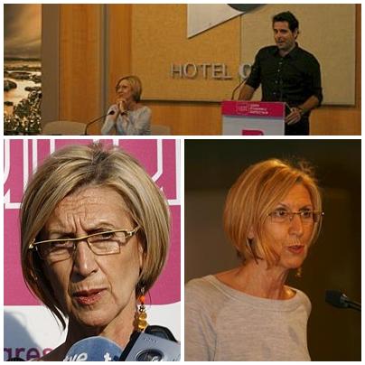 Rosa Díez reclama en Santander el papel de UPyD como tercera opción política