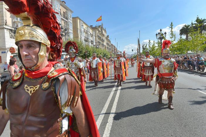 Las tropas romanas de Aquitania conquistan Santander