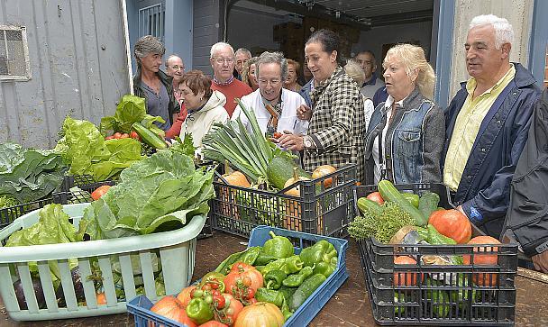 Hortelanos santanderinos donan a la cocina económica verduras y hortalizas cultivadas en las parcelas municipales