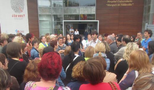 Asamblea de trabajadores de Uni2 celebrada durante la mañana del sábado 14 de septiembre