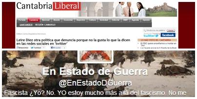 La cuenta de Twitter @enestadodguerra ha sido denunciada por la socialista Leire Díez