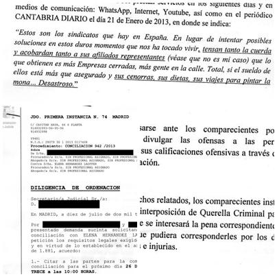 Dos delegados de USO demandan a una columnista de CANTABRIA DIARIO por un artículo de opinión