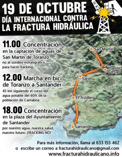 Organizada una marcha en bicicleta contra el 'fracking'