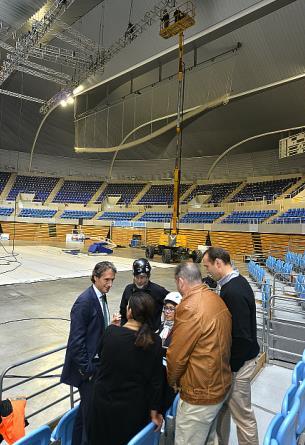 """El Circo del Sol comienza el montaje del escenario de su espectáculo """"Alegría"""" en el Palacio de los Deportes"""