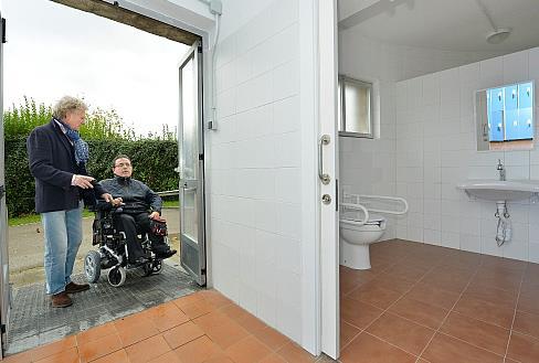 Avanzan a buen ritmo las obras de mejora de la accesibilidad y del entorno del Instituto Municipal de la Albricia