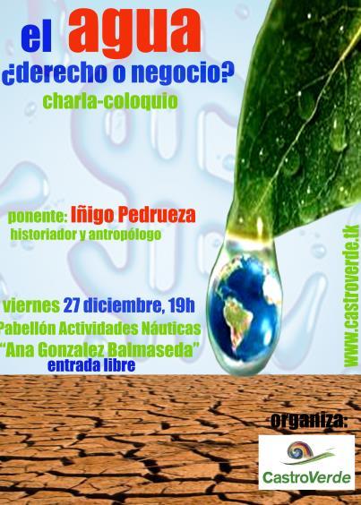 CastroVerde organiza una charla-debate sobre el agua