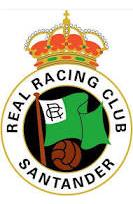 El escudo del Racing de Santander
